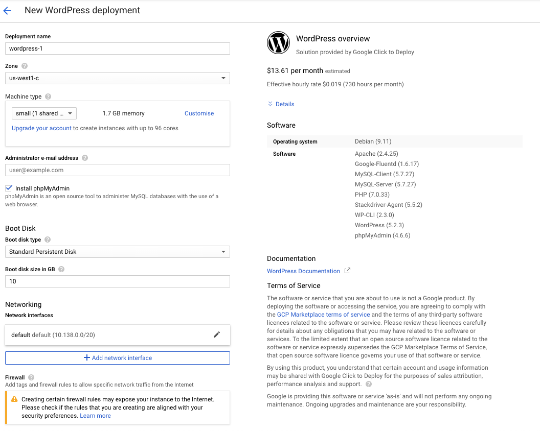 New WordPress Deployment