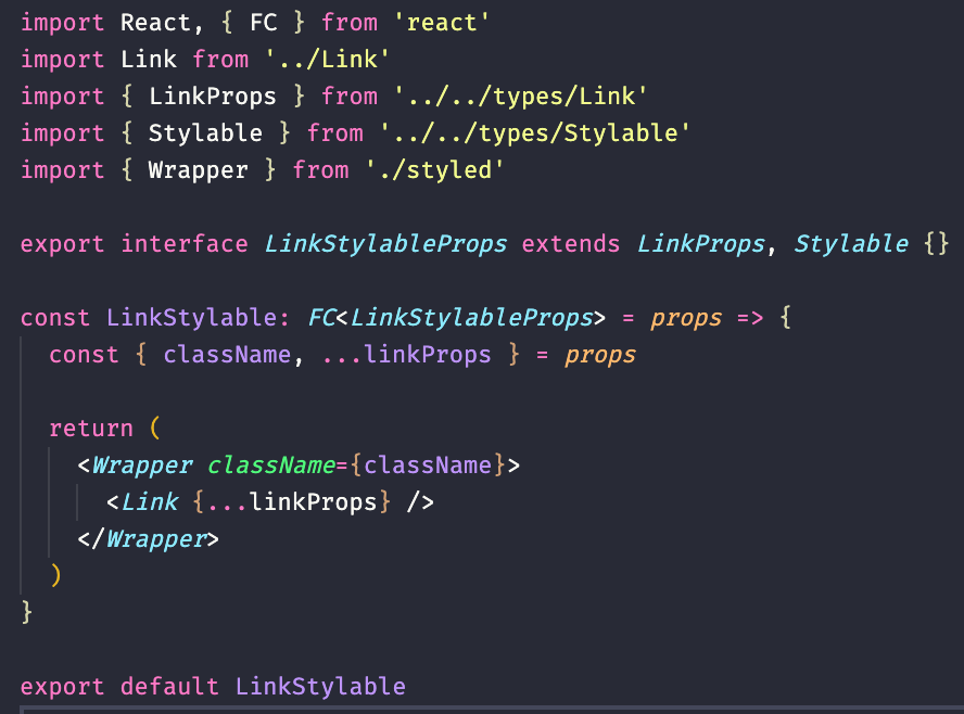 Bonsai Styleable Link