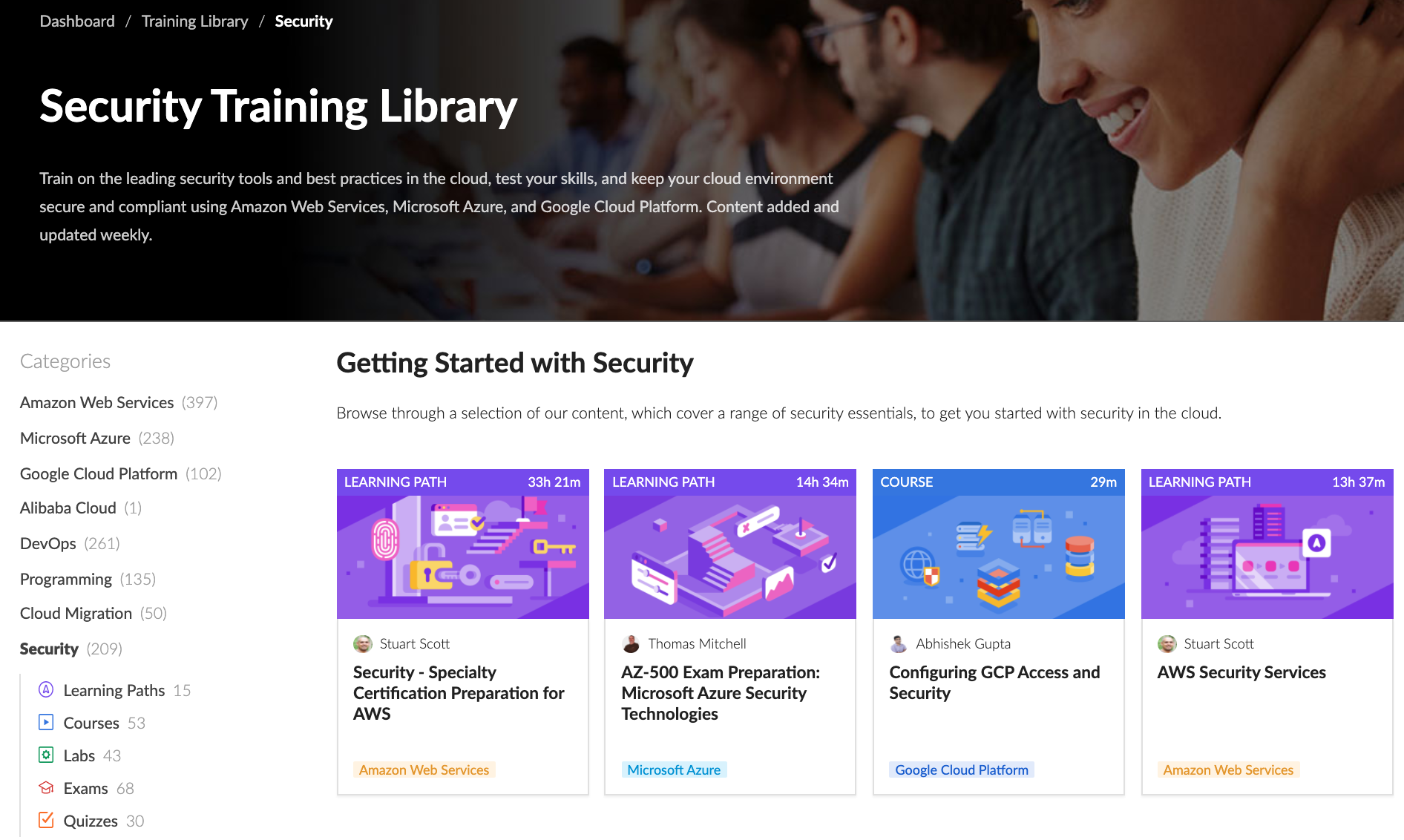 Cloud Academy Security Library