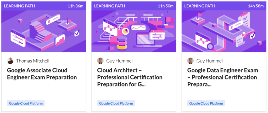Images and a link to Azure certification Learning Paths