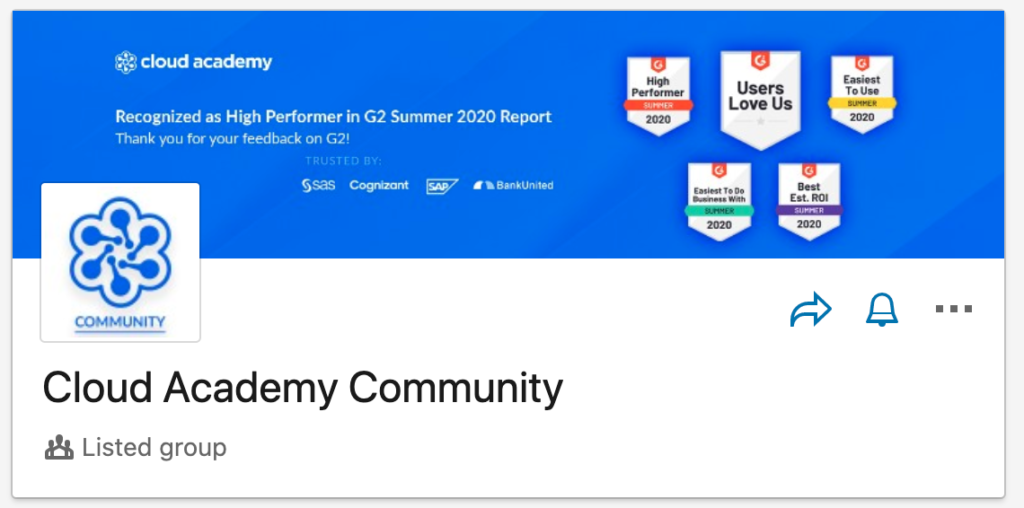 Cloud Academy's LinkedIn Community