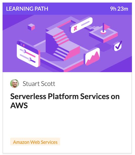 AWS Serverless Platform Services Learning Path