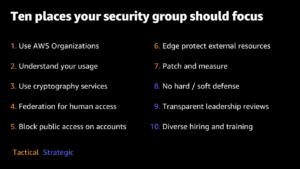 10 places your security group should focus