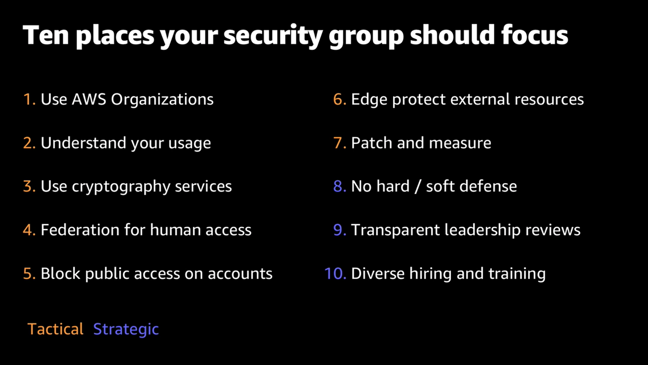 10 places your security group should focus