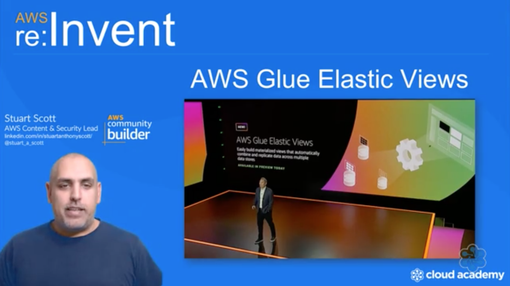 Learn about new features from re:Invent 2020 like AWS Elastic Glue Views