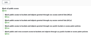 block public access on accounts