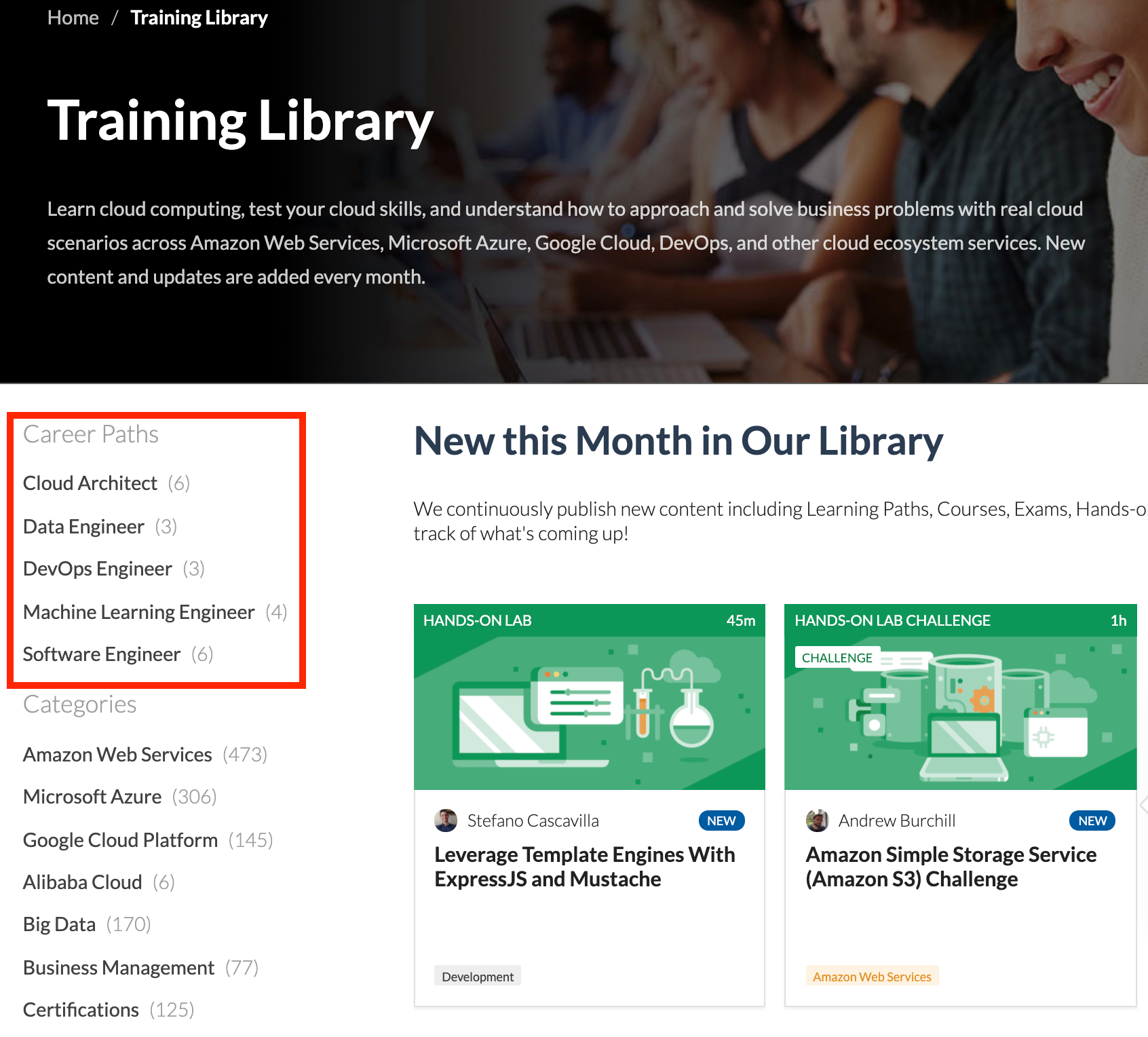 Career Paths in Training Library