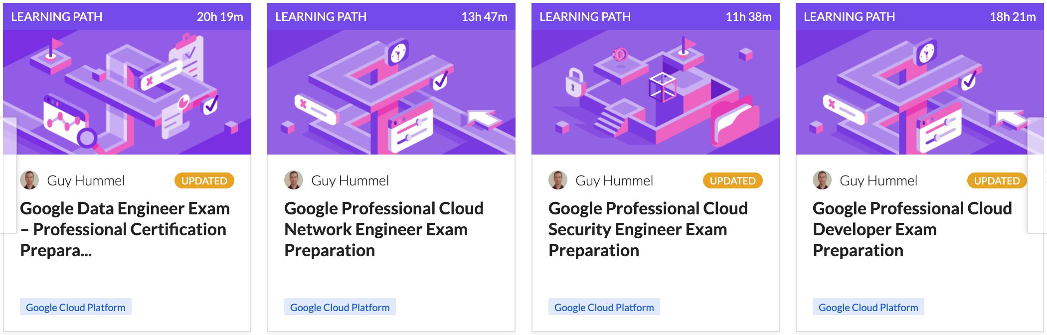Cloud Academy Google Certifications
